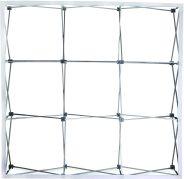 Coala Popup Textile presentatiesysteem - frame half opengevouwen